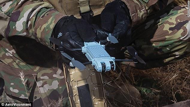 美公司推出手掌大无人机 便于军事隐秘监控
