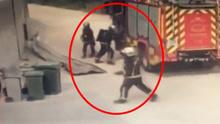 惊险实拍!消防刚到火场瞬间猛烈爆炸