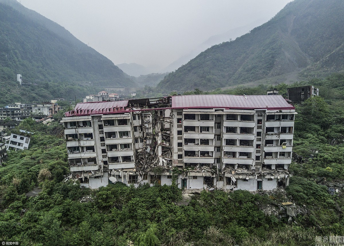 老北川地震遗址
