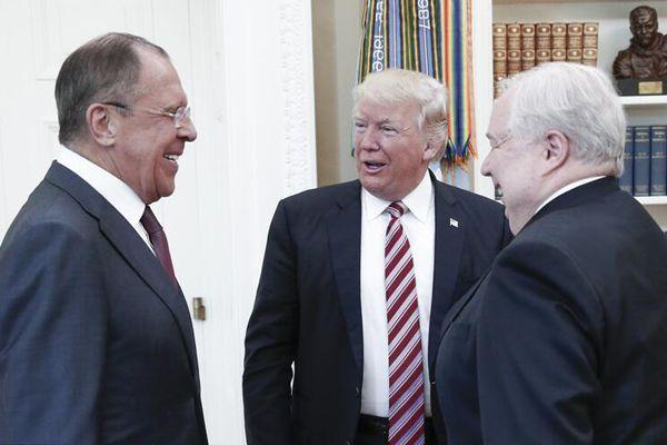 特朗普在白宫会见俄罗斯外长拉夫罗夫