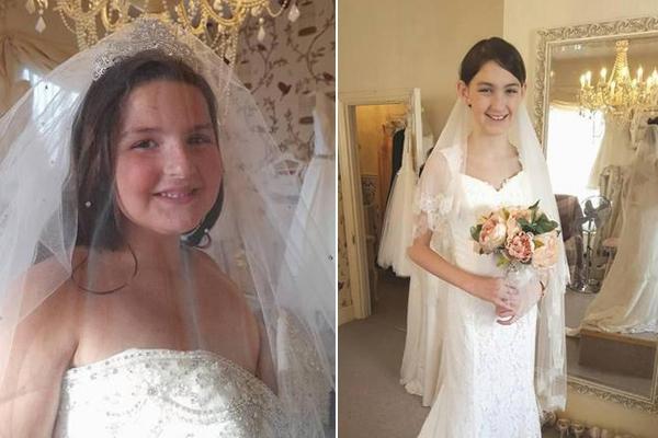 癌症母亲为8岁和12岁女儿挑婚纱买房