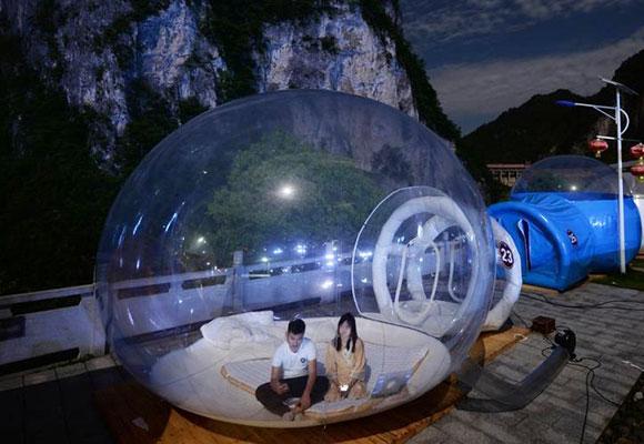湖南湄江推室外星空房 房客夜宿观群星