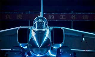 飞豹战机夜航锤炼夜间作战能力