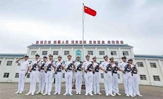 南沙升旗仪式人在礁在国旗在
