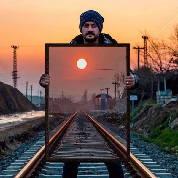 创意拍照角度很重要图片