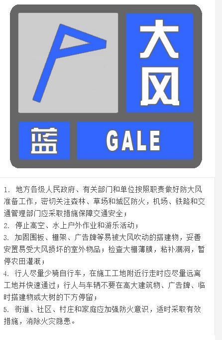 北京气象台发布大风蓝色预警 阵风可达8级并有扬沙