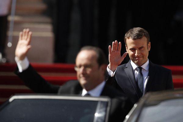 马克龙正式就任法国总统 奥朗德挥别爱丽舍宫