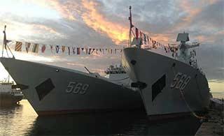 海军护航编队访问马达加斯加