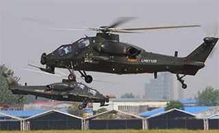 直10武装直升机超低空绕桩训练