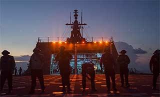 美军这艘军舰已在南海活动半个月