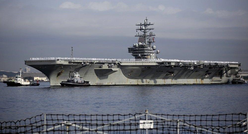 尴尬!外媒称美军里根号航母因故障无法离开日本