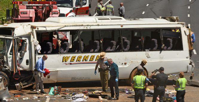 美国马里兰州发生车祸 致25人受伤