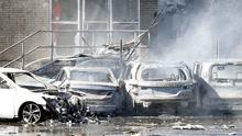 惊!美国一小型飞机坠毁