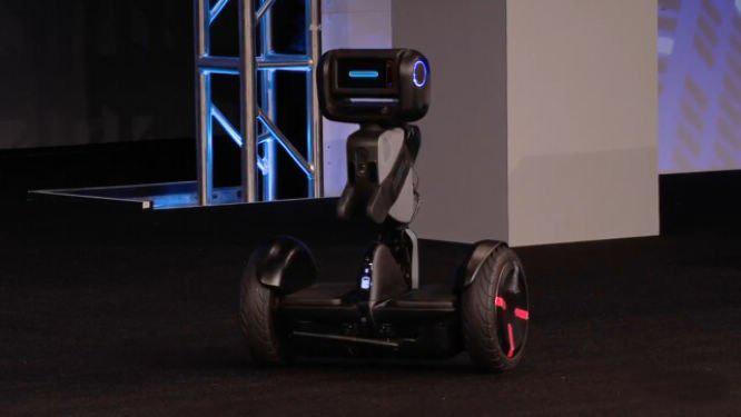 快递小哥再遇对手 机器人Loomo Go要上路了