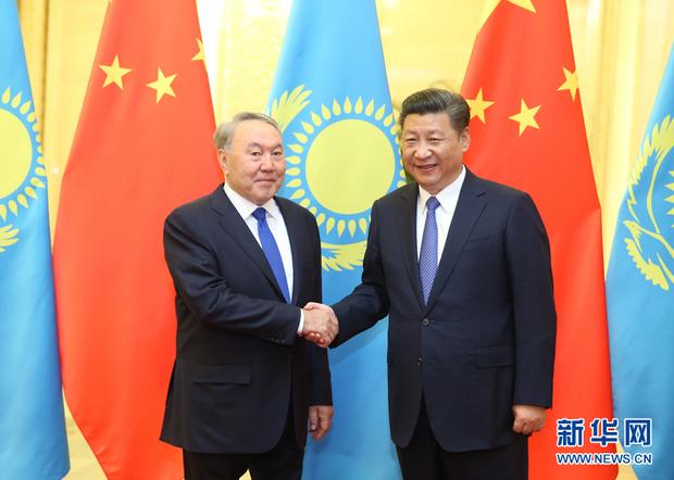 """哈萨克斯坦总统:""""一带一路""""将为世界人民带来实在利益"""