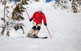 滑雪谨防膝关节损伤