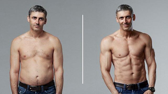 45岁老爸12周练出6块腹肌 绝密食谱曝光