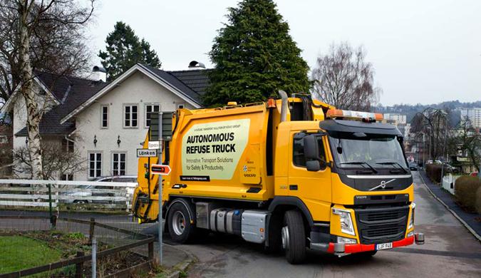 沃尔沃研发自动驾驶垃圾车 自动前往垃圾装运点