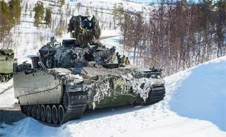 挪威陆军5月白雪中实战训练