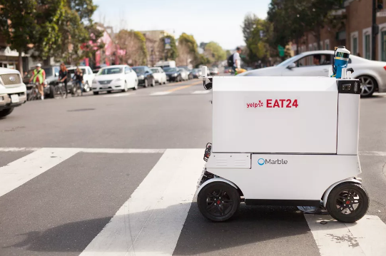 旧金山考虑禁止送货机器人穿越人行道