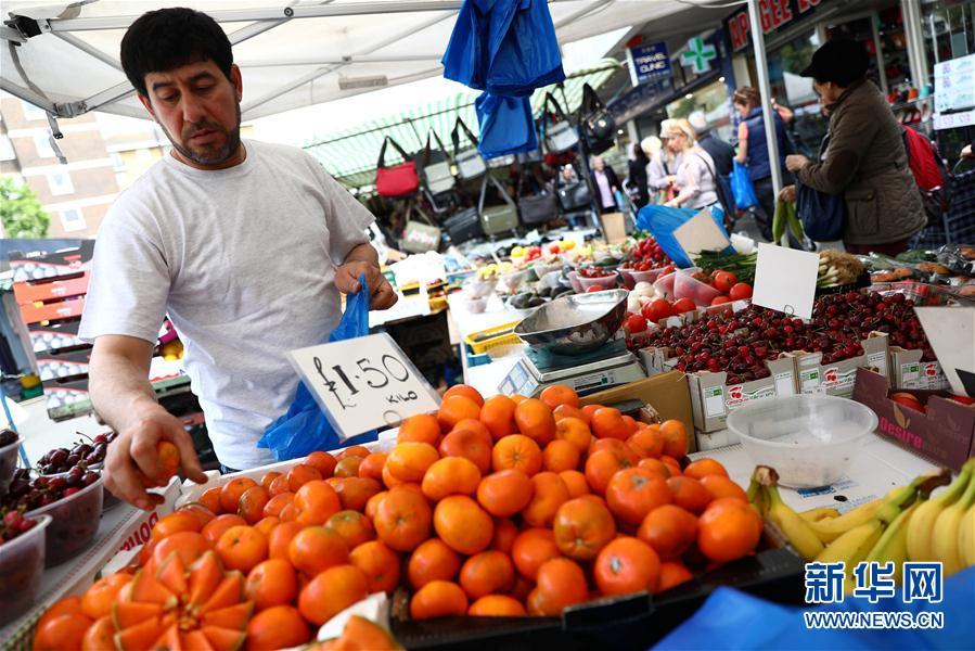 实拍伦敦果蔬市场