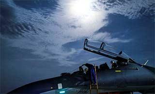 战斗机昼夜演习连夜维护保障