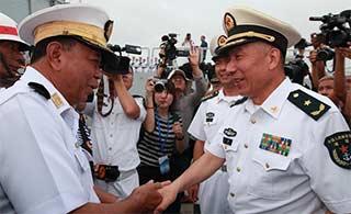 中国海军离开马来西亚抵达缅甸