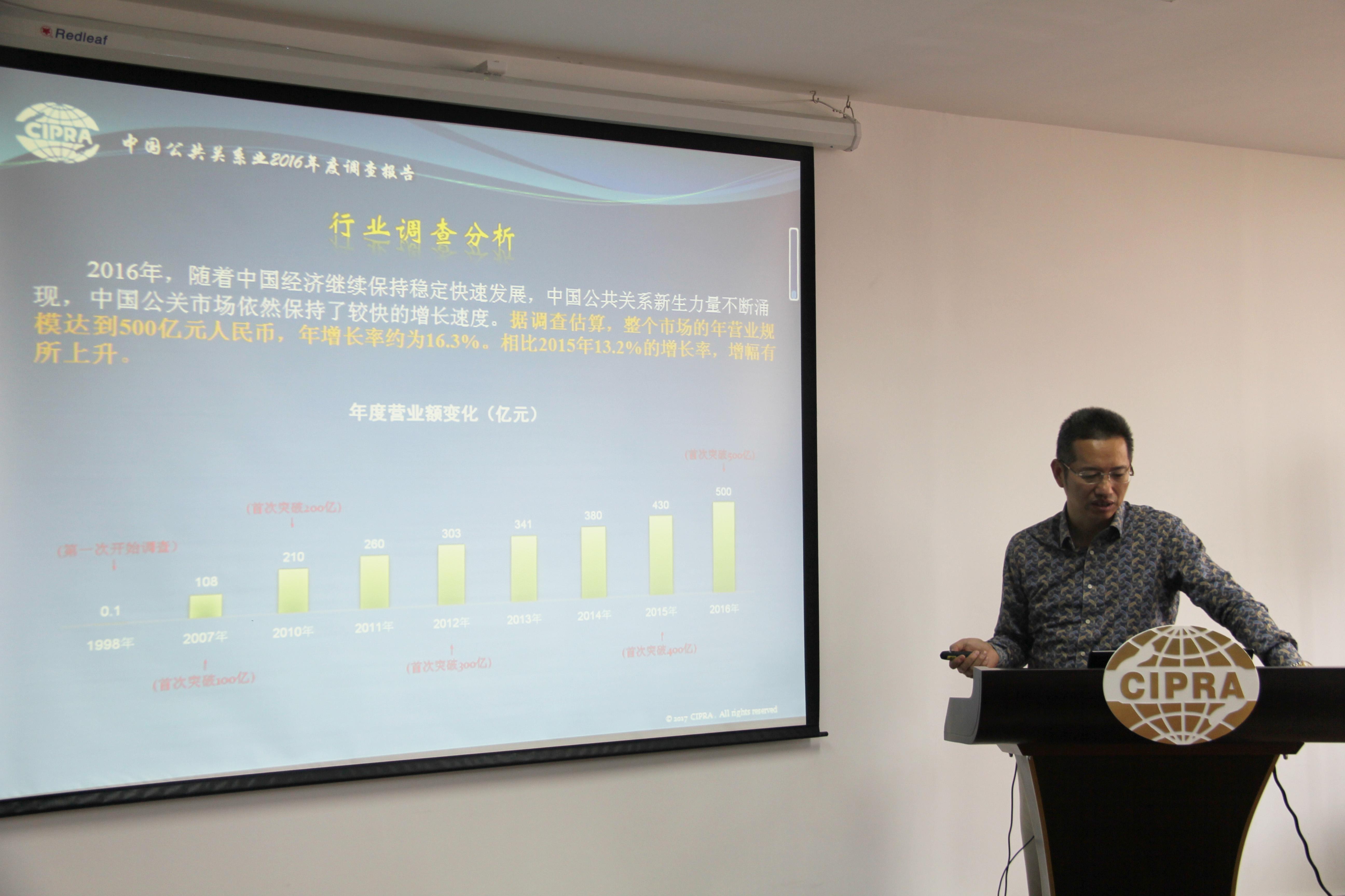 《中国公共关系业2016年度调查报告》发布