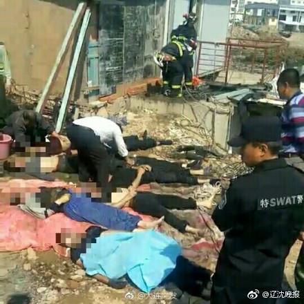 辽宁旅顺多名村民掉入污水池中 致8人死亡2人受伤