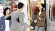 广州一女子强闯地铁车厢 头发被车门连夹6站
