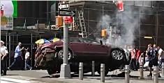 纽约广场汽车撞人1死22伤