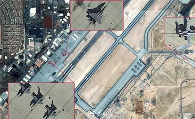 中国卫星实拍美国本土空军基地