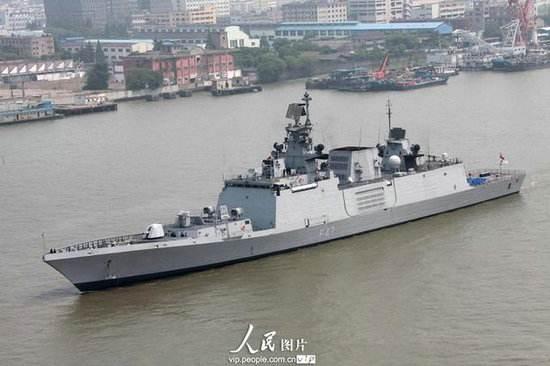 印度新加坡在南海举行联合军演 出动隐身护卫舰