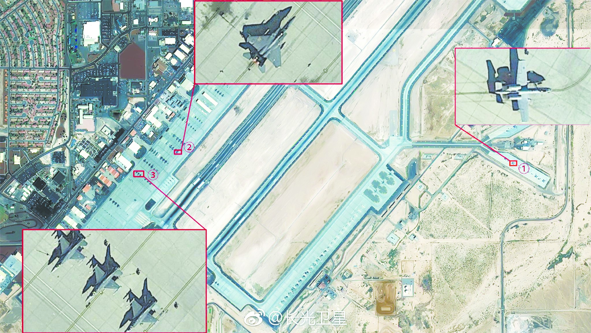 厉害了中国!中国公司晒美军基地高清卫星图