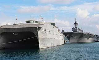 日美战舰停靠金兰湾联越制华?