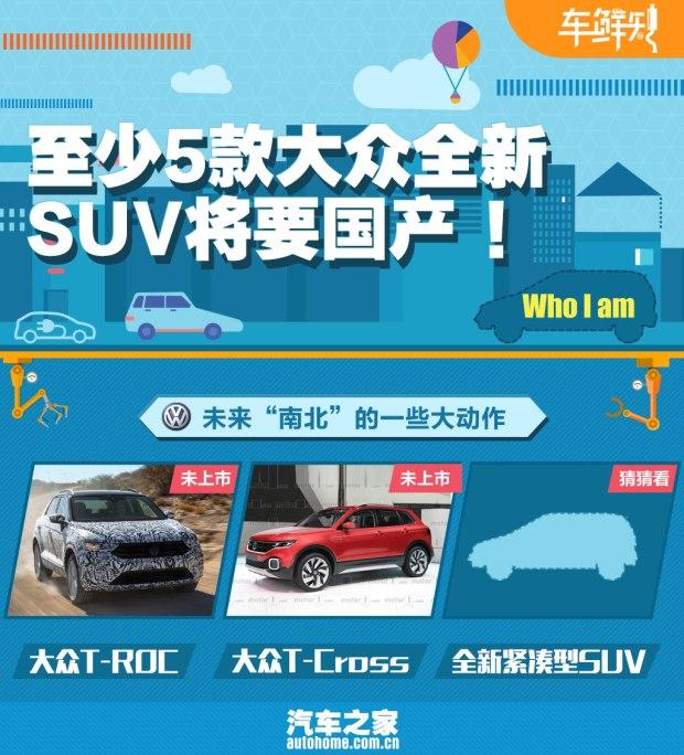 车鲜知:至少5款大众全新SUV将要国产!