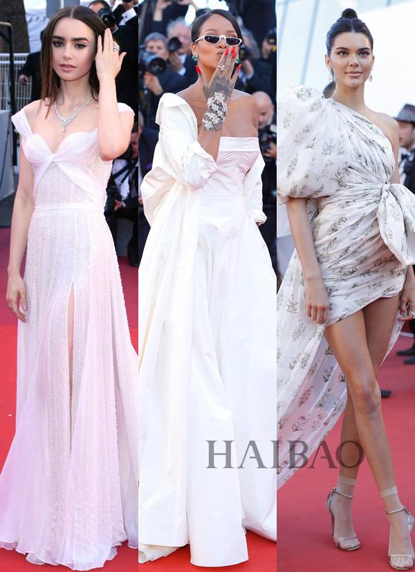 2017年戛纳电影节第二到四日红毯中外大咖云集:Lily Collins变身美背小仙女,肯豆肉色丝袜+
