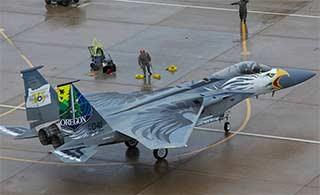 F15战机白头鹰涂装别致又霸气