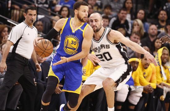 NBA-勇士4-0横扫马刺 12连胜晋级总决赛