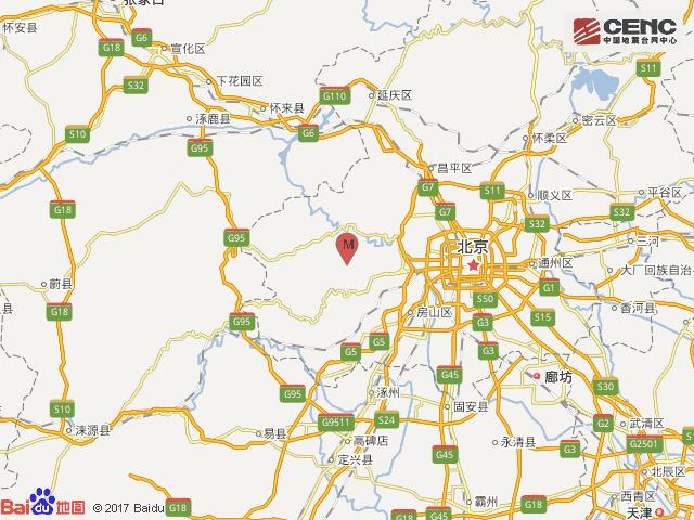 北京门头沟区(塌陷)2.6级地震