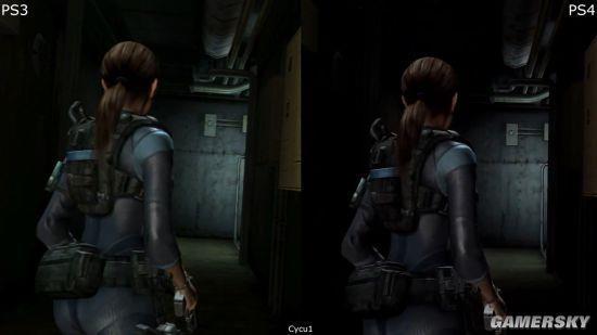 《生化危机:启示录》PS3/PS4画面对比