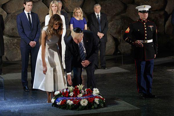 特朗普造访以色列犹太大屠杀纪念馆 向遇难者敬献花圈