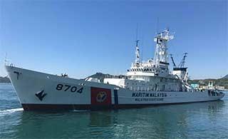 日本送马来西亚二手海保船到货