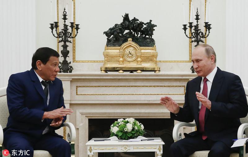 菲律宾总统访俄与普京会晤 欲买武器不想再与美国打交道