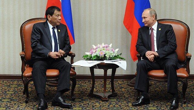普京:为菲总统访问准备的一揽子文件将于24日签署