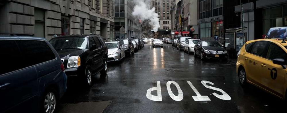漫步雨中纽约曼哈顿
