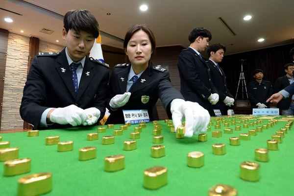 韩国破获黄金走私案 走私方式令人瞠目结舌