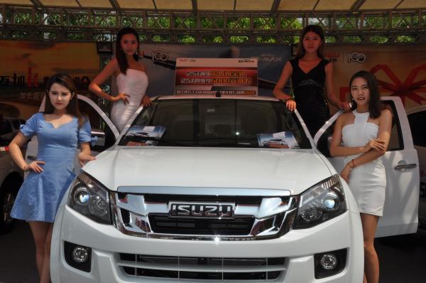 皮卡+SUV来跨界巡展 江西五十铃产品颇为抢镜
