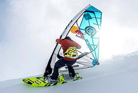 震惊!美运动员山顶乘帆船滑雪引围观