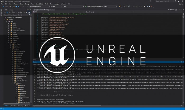 Unreal Engine虚幻引擎最新版本4.16发布